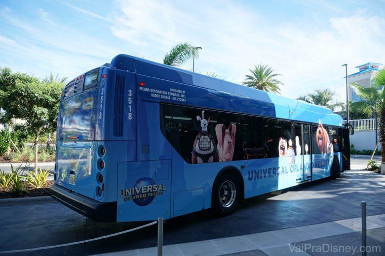 Transporte gratuito para os parques da Universal.