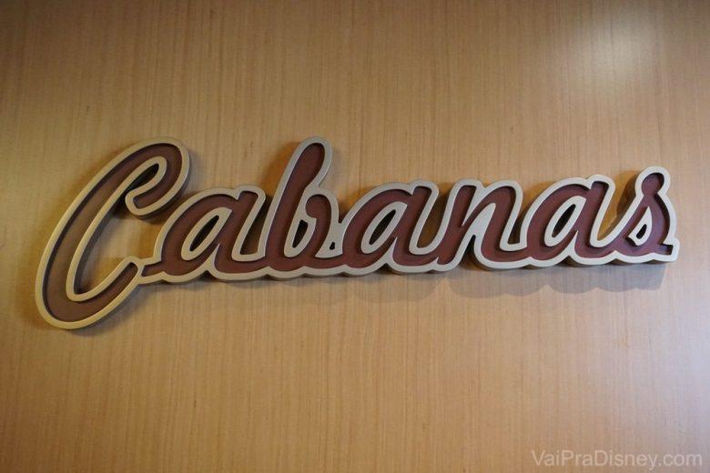 O Cabanas é o restaurante buffet dos navios da Disney. Impossível não amá-lo!