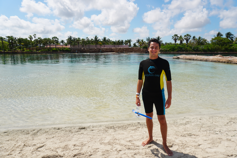 """O """"piscinão"""" disfarçado de praia onde ficam os golfinhos"""