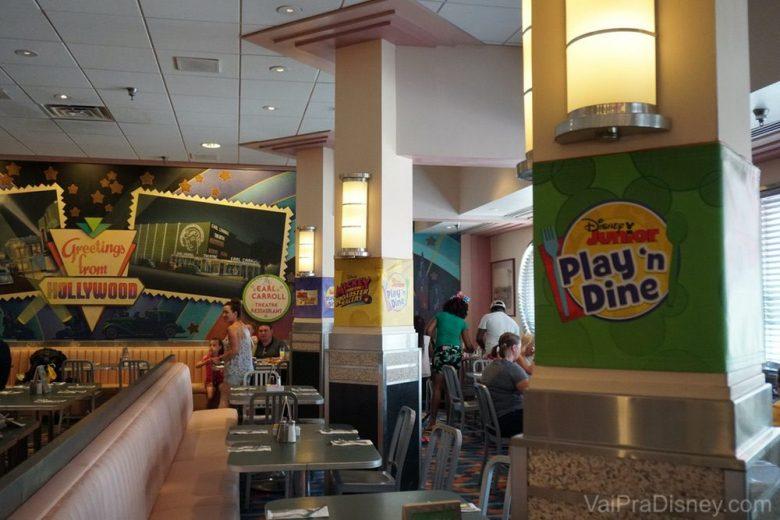 Decoração especial para o café da manhã do Disney Junior.