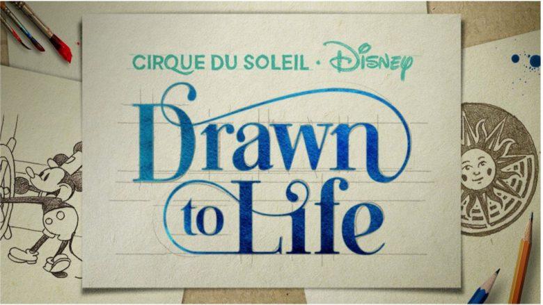 Imagem de divulgação do novo show do Cirque du Soleil em Disney Sprinsg, que se chama Drawn to Life.