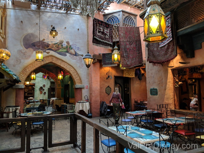 Um pouquinho do Agrabah Cafe por dentro