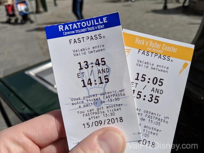Fastpass vintage na Disneyland Paris