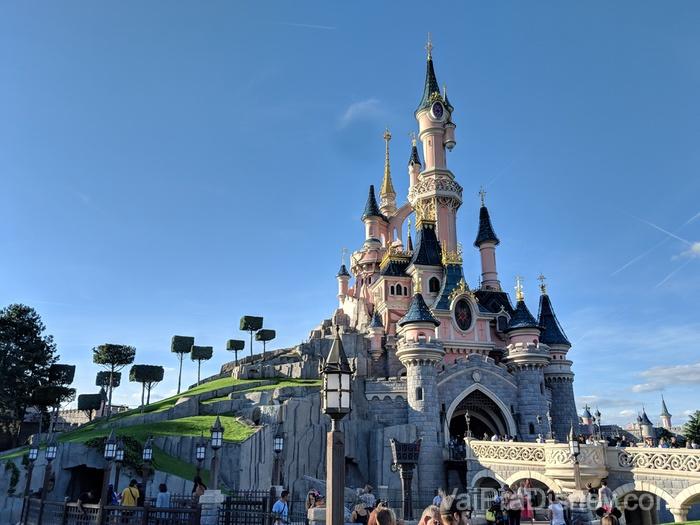 O castelo da Disneyland Paris