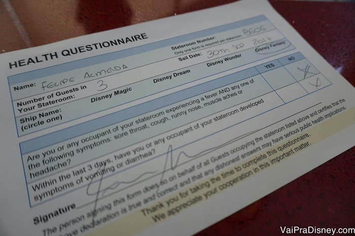 Exemplo do tempo que você precisa assinar (um por cabine).
