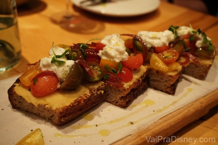 A bruschetta do Prato