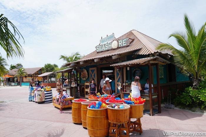 Em Castaway Cay, ilha da Disney, você também pode pagar usando a chave do quarto. Super prático!