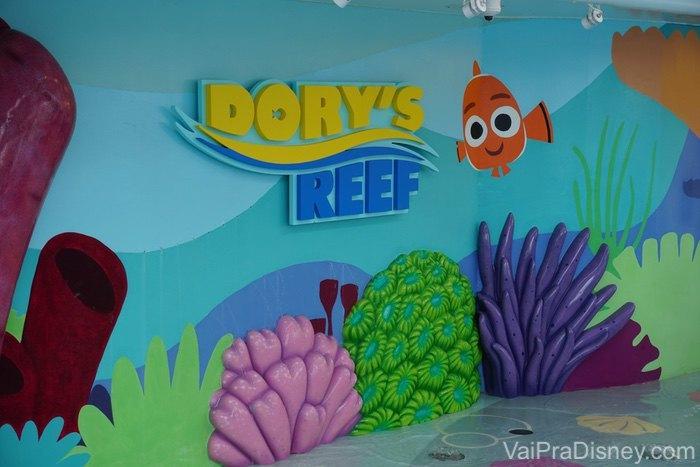 Já o Dory's Reef fica no Disney Wonder.