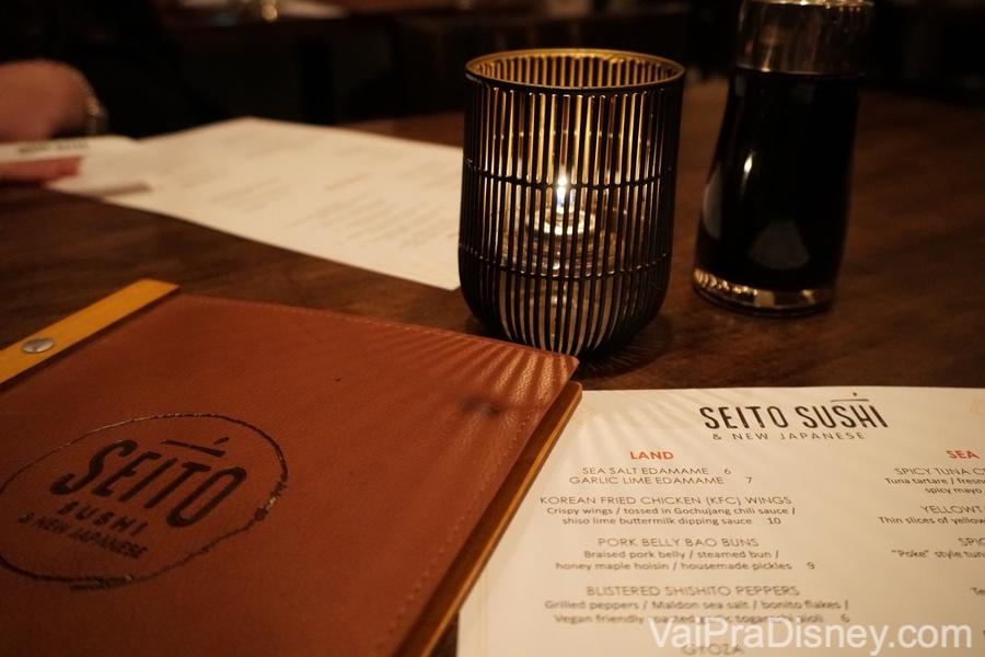 Foto do cardápio do Seito Sushi