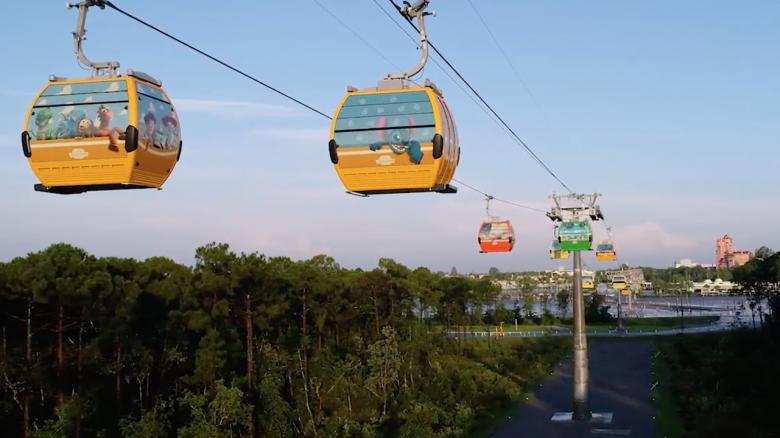 Skyliner, o teleférico da Disney