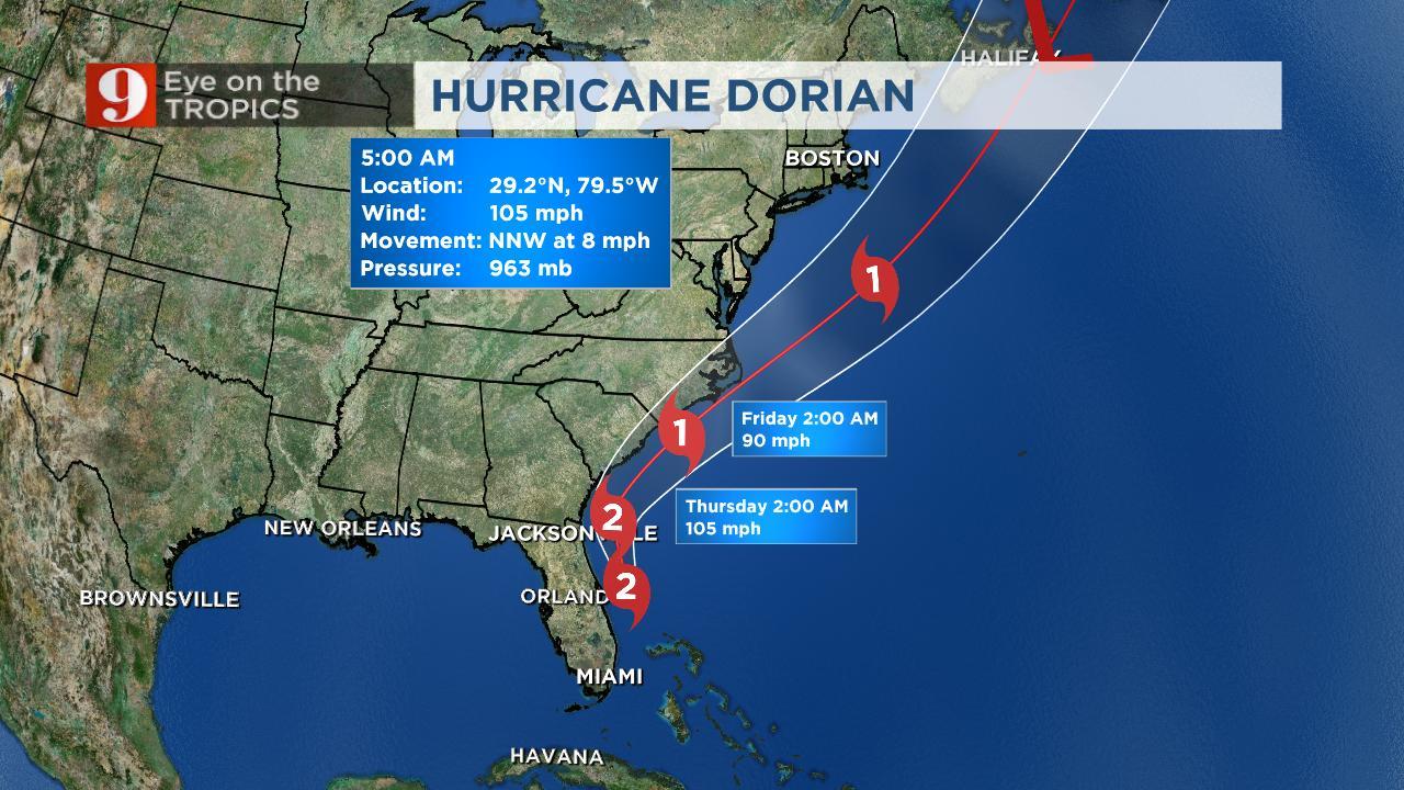 Relatório do Channel 9 do dia 4 de Setembro sobre as áreas afetadas pelo Furacão Dorian