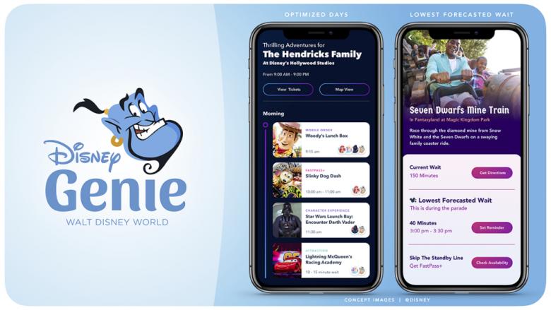 Imagem de divulgação do Disney Genie, a nova ferramenta digital de planejamento que a Disney vai lançar