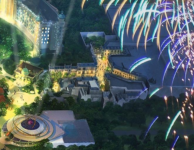 Conceito artístico possivelmente da área do filme Animais Fantásticos e onde habitam no novo parque da Universal.