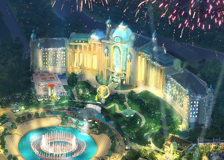 Conceito artístico do novo hotel do complexo Universal, que será próximo ao novo parque.