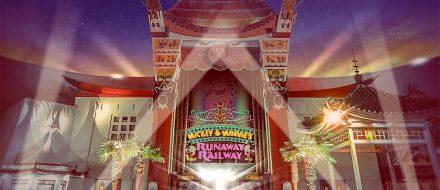 Entrada da nova atração do Mickey e da Minnie no Hollywood Studios. Na California a mesma atração ficará em Toontown.
