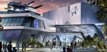 Conceito de como será a atração que ficará no prédio da sede dos Vingadores do Avengers Campus na Califórnia e em Paris