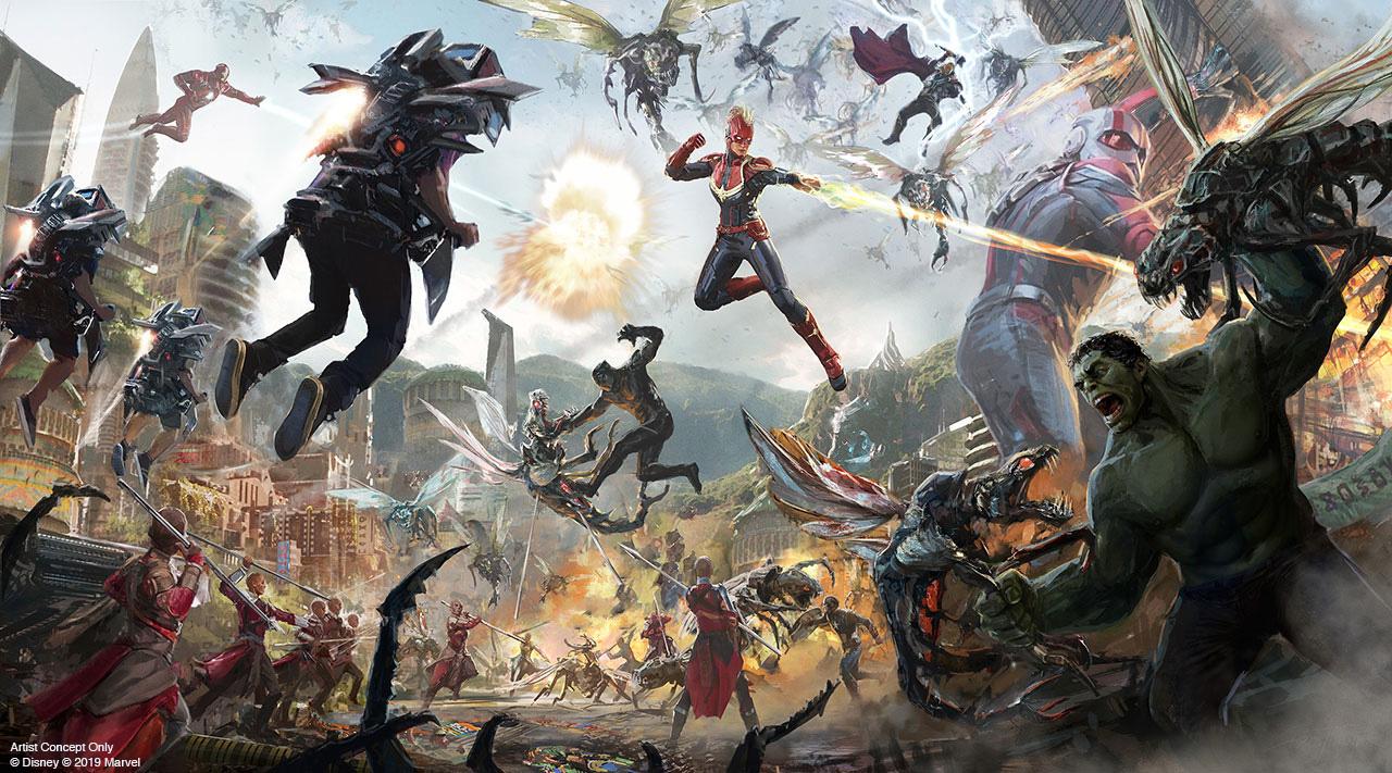 No Avengers Campus, os visitantes se juntarão aos super-heróis para lutar contra os vilões e salvar o mundo em uma atração inovadora que vai colocar a gente no meio das batalhas.