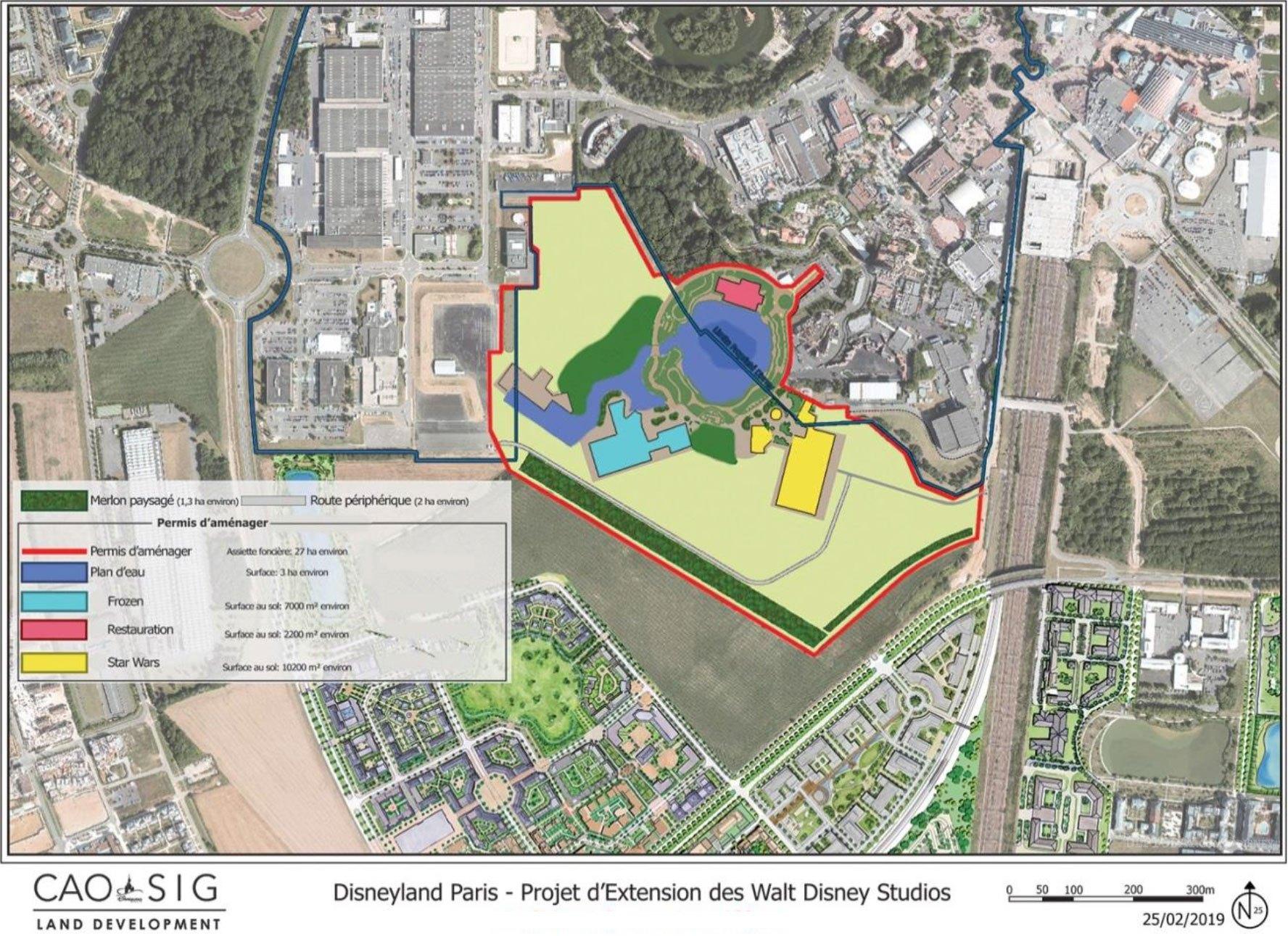 Mapa com o provável projeto do plano de expansão da Disneyland Paris. Imagem: RadioDisneyClub
