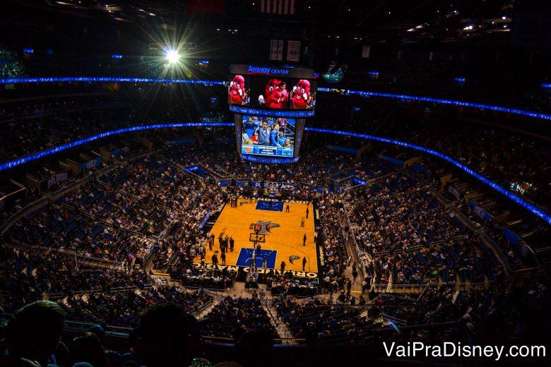 Os jogos da NBA são uma experiência bem americana e super diferente.
