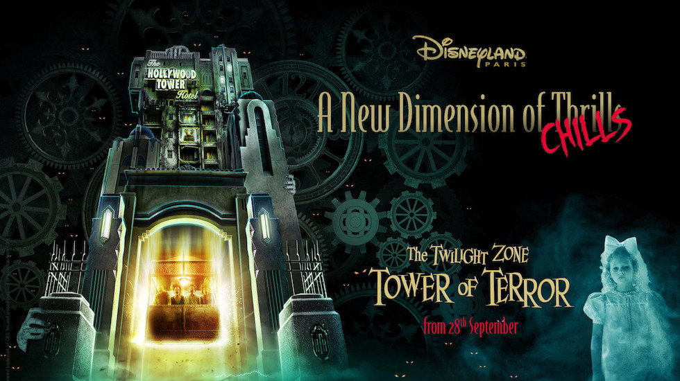 Conceito das novidades na Tower of Terror de Paris, em termos de incrementos e efeitos especiais