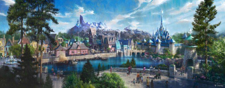 Novo conceito artístico da área de Frozen que será construída na Disneyland de Paris