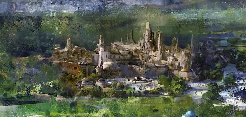 Conceito da área de Star Wars que chegará à Disneyland de Paris