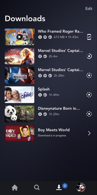 Dá pra salvar e assistir offline no Disney+ Plus