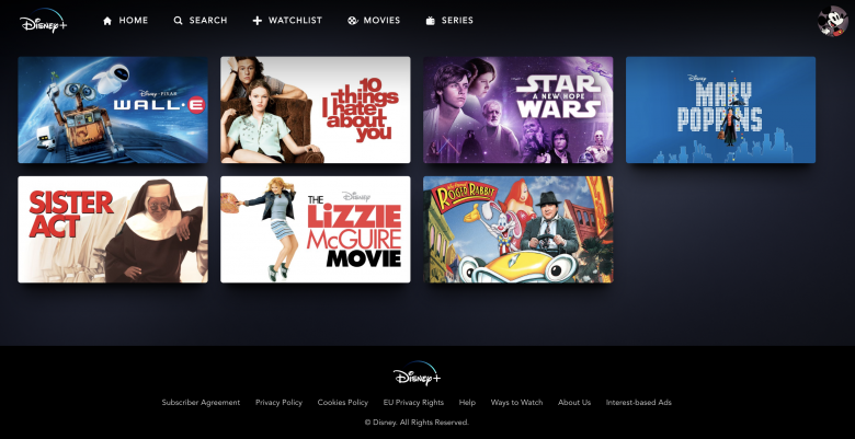 Minha Watchlist do Disney Plus