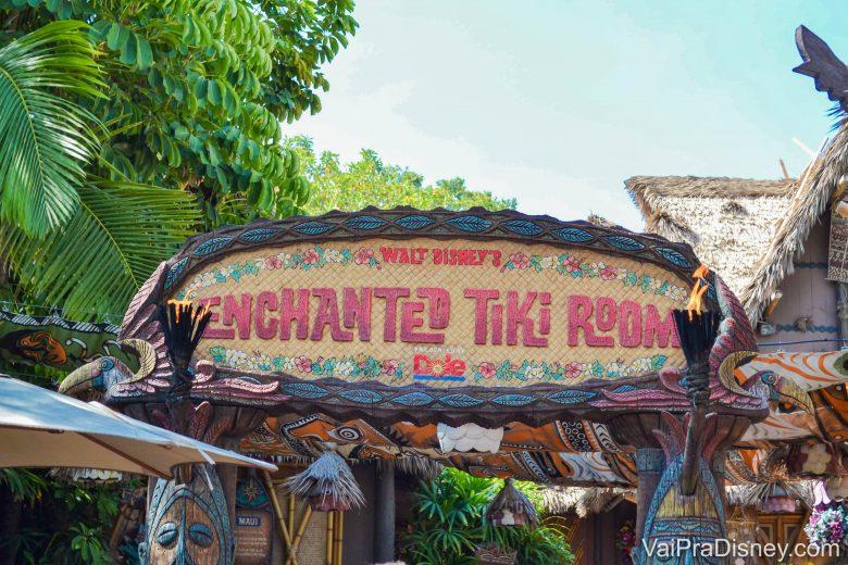 Disneyland California - In the tiki tiki tiki tiki tiki room! Quem já ouviu a musiquinha não vai conseguir tirar ela da cabeça agora :P