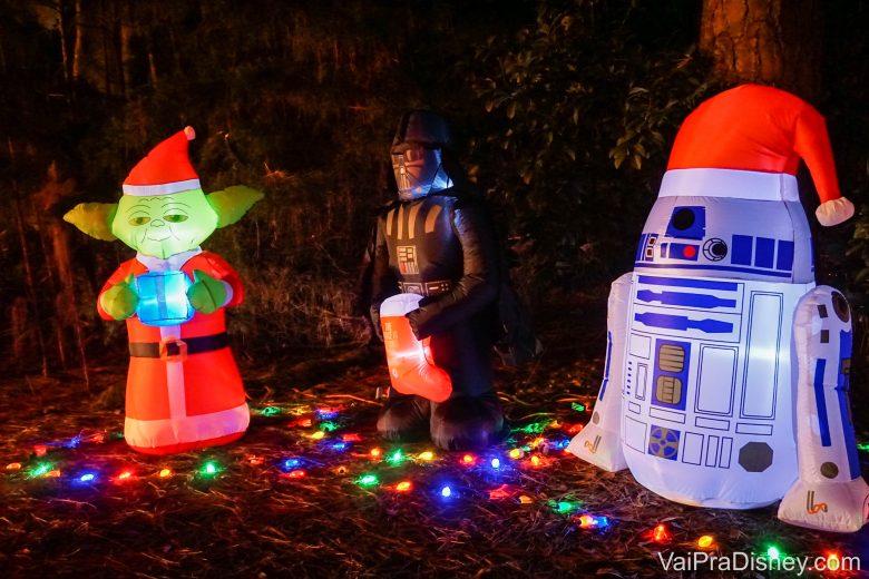 Decoração de Natal de um dos hóspedes da área de camping do Fort Wilderness