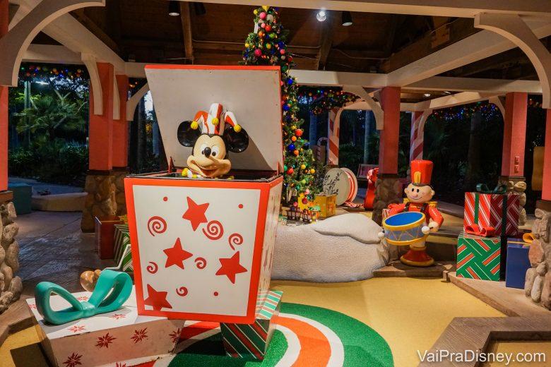 Mini Golf de Natal da Disney!