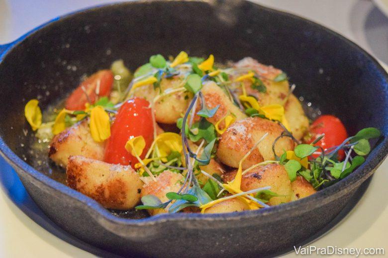 Foto do prato com o gnocchi trufado do Market to Table