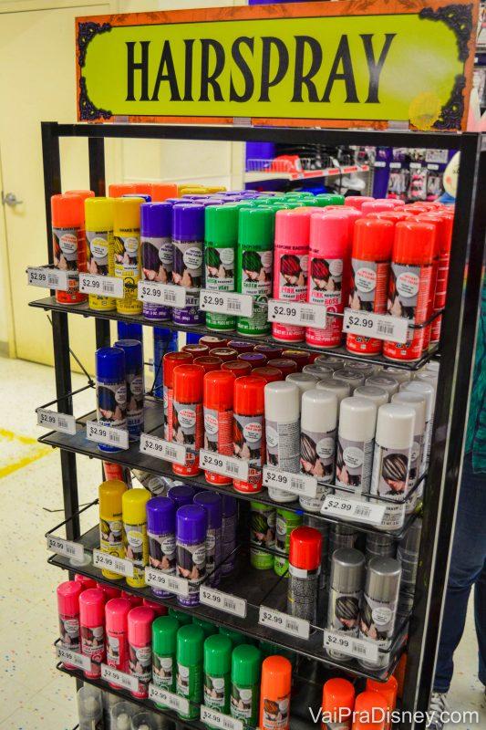 Sprays de cabelo coloridos para usar na festa e depois tirar no banho