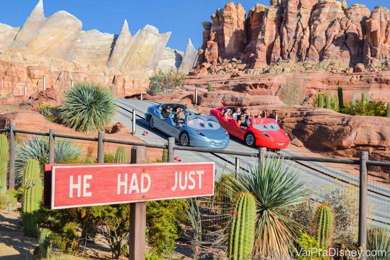 California Adventure - A atração de Carros é imperdível!