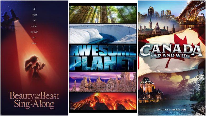 Pôsteres dos novos filmes dos pavilhões da França, do The Land e do Canadá no Epcot