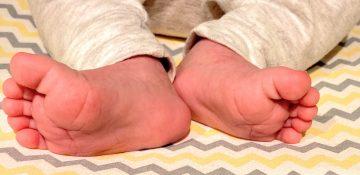 Foto dos pezinhos do Daniel, segundo bebê da Renata e do Felipe