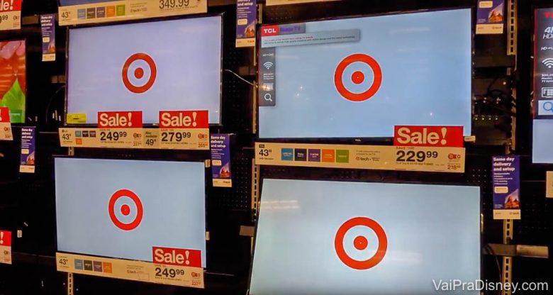 Eletrônicos na Target.