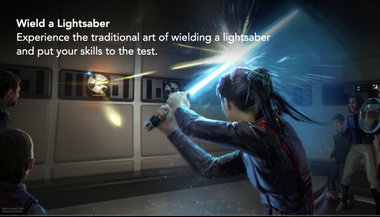 Experiência com sabre de luz a bordo da nave espacial