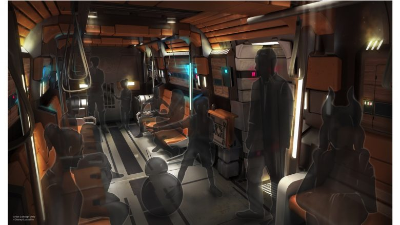 Naves de transporte de passageiros até a Star Wars: Galaxy's Edge, no Hollywood Studios
