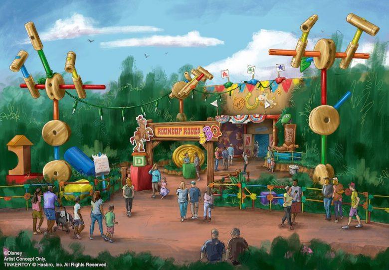 Conceito do novo restaurante da Toy Story Land em Orlando, que se chamará Roundup Rodeo e inaugura em 2020
