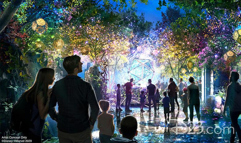 Foto do conceito divulgado pela Disney do santuário do Doutor Estranho no Avengers Campus