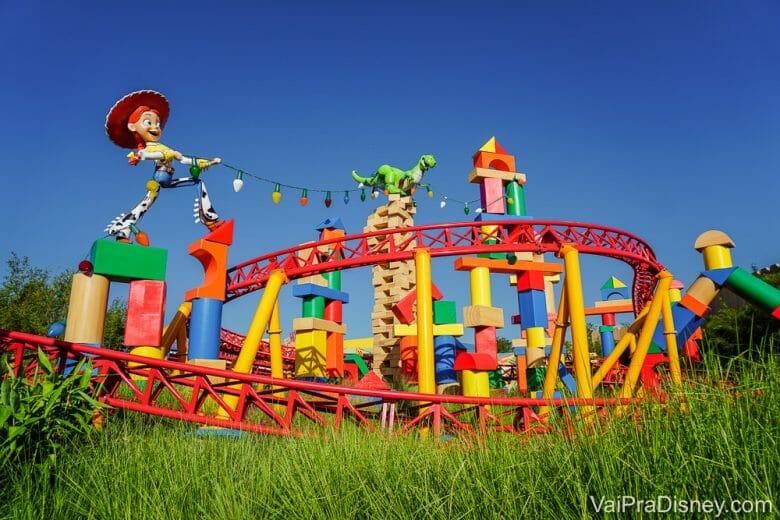 Imagem da Toy Story Land, No Disney's Hollywood Studios.