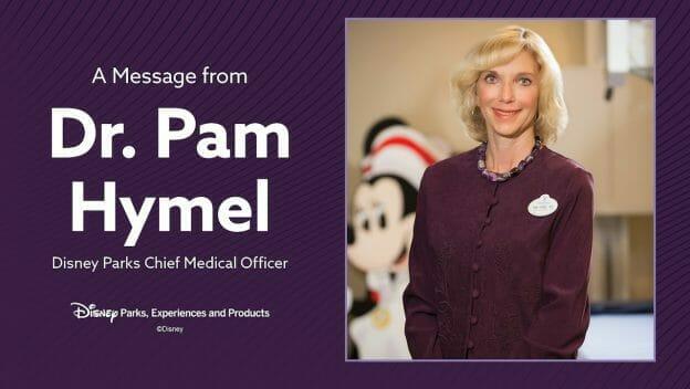 Foto da médica chefe da Disney, Dra. Pam Hymel, no anúncio feito pelo complexo sobre os procedimentos que serão adotados na reabertura.