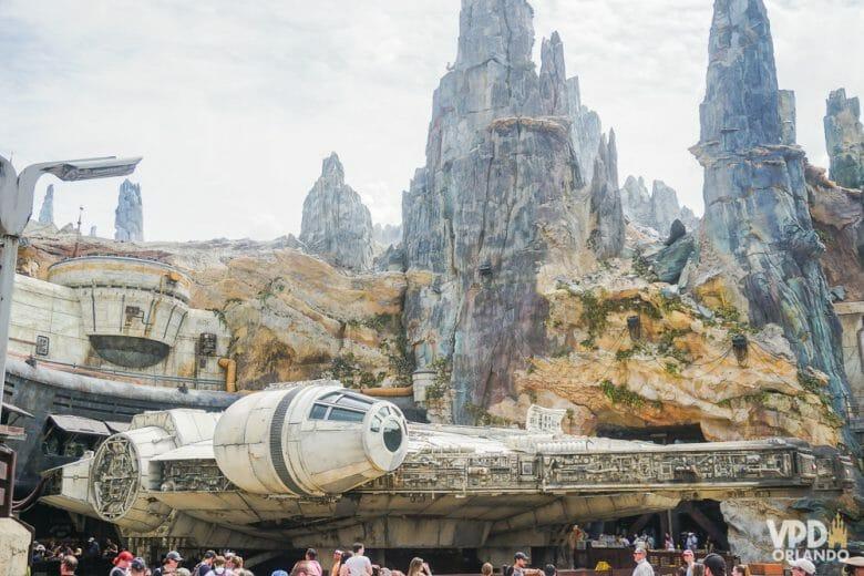 A Star Wars: Galaxy's Edge fica no Hollywood Studios