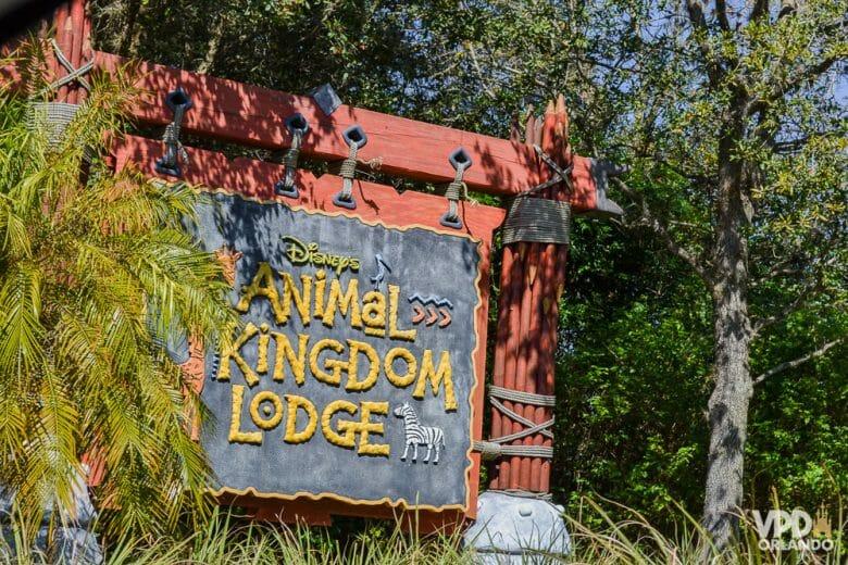 O Animal Kingdom Lodge é um hotel super diferente