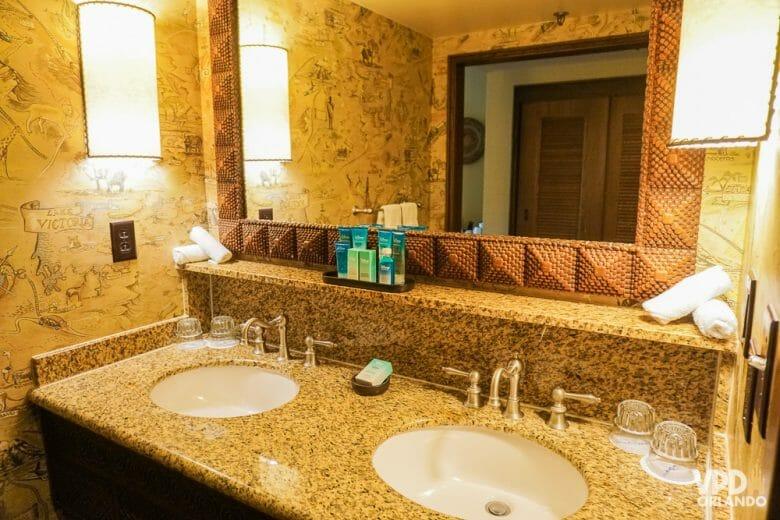 Detalhes da decoração do banheiro