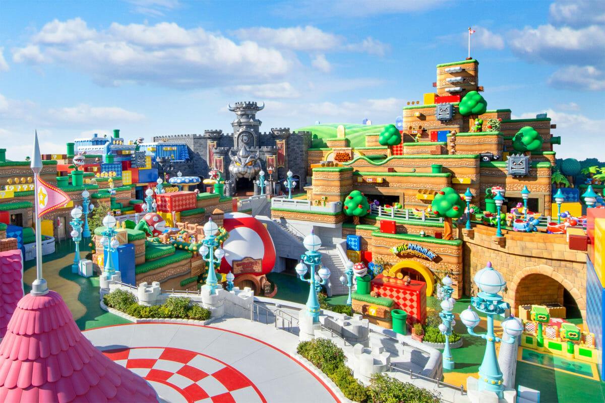 Imagem de como deve ser a área Super Nintendo World, no Japão