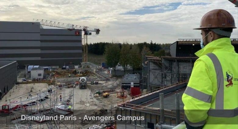 A construção da área da Marvel em Paris continua.