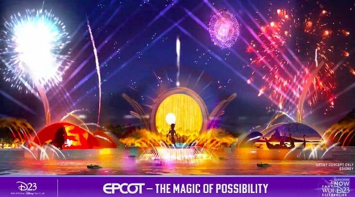 Imagem conceito do Harmonious, novo show de fogos do Epcot.