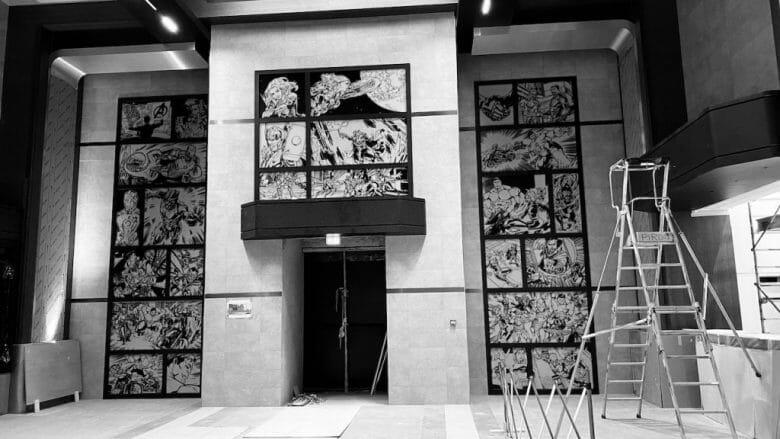 Fotos do quarto ainda em construção do novo hotel da Marvel em Paris
